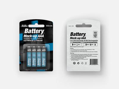 Battery AAA Mock-up