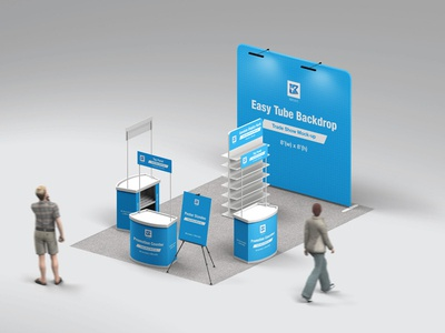Trade Show Booth Mock-up v4