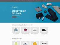 E-commerce website Store Homepage