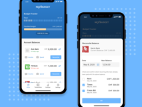 Quick explorations for a budgeting app flat mobile ui interface minimal app mobile app ux ios ui