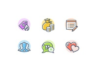 Flat icons miscellaneous