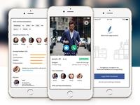 In app profile data representation