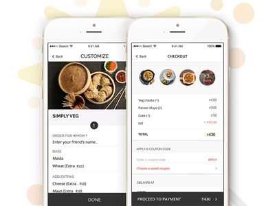 Personalise your order checkout customise personalise ios app mobile ui ux ui faasos