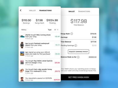 Kanga Wallet wallet app ui ios mobile kanga