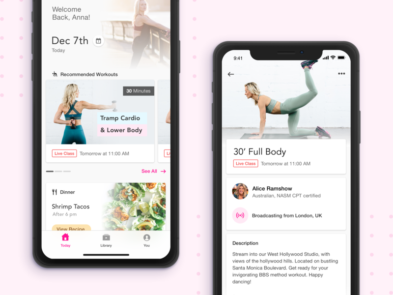 "The ""White"" mode nutrition fitness ios flat ui ux mobile app"