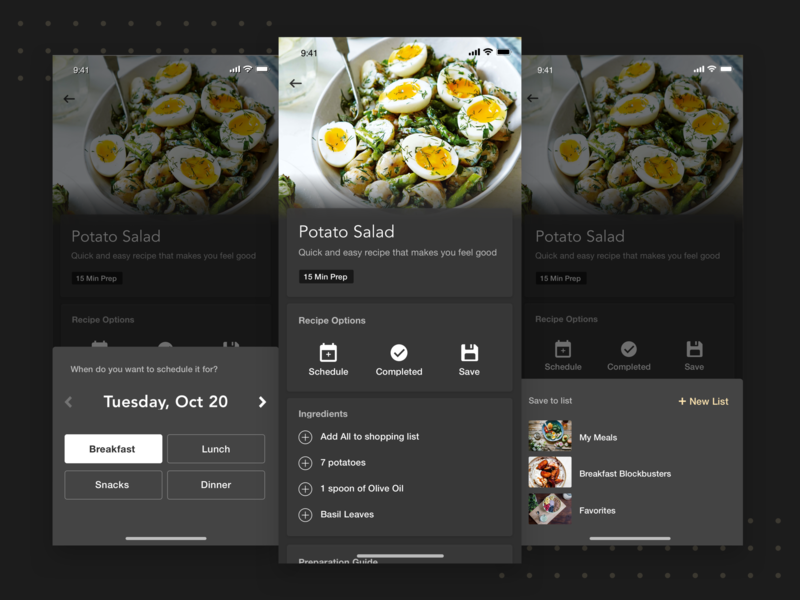 Recipe Details fitness app nutrition minimal mobile ui flat mobile app ux ui ios
