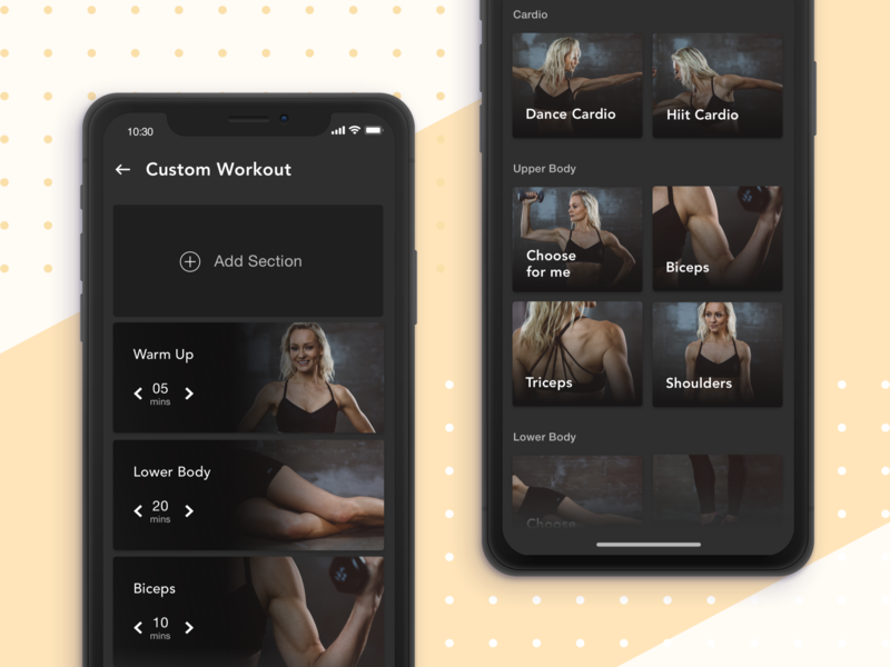 Create your own workout fitness workout custom interface mobile ui mobile app flat ui ux ios