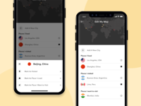 Places I visit flat design mobile interface minimal mobile ui mobile app ux ui ios