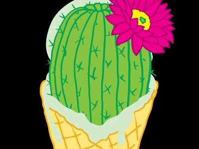 Prickly Ice Cream flower cactus ice cream cone ice cream