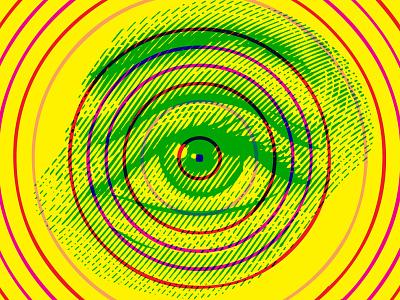 Magic Eye experimental optical eye