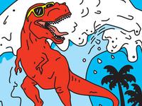 Surfing T-Rex
