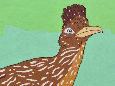Roadrunner bird roadrunner painting