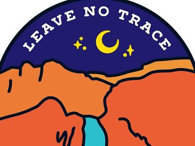 Leave No Trace moon night western landscape leave no trace outdoors hiking