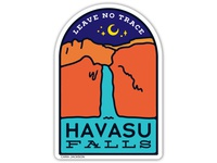 Havasu Falls Sticker Design