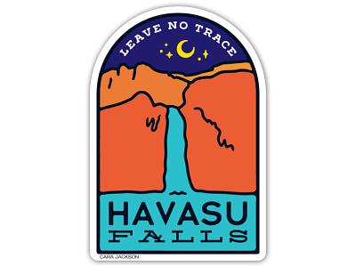 Havasu Falls Sticker Design stars grand canyon leave no trace havasu