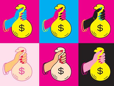 BO$$ BABE boss feminist cash money hand
