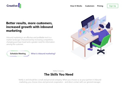 Creative Landing Page For Inbound Marketing Website