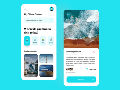 Travel app concept beach travel location ui mobile ui app mobile colours branding flat design