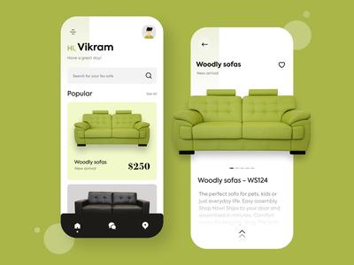 Sofa online buy app concept brand identity brand design online shopping online store online shop sofas sofa colours typography branding design