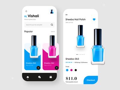 Nail polish online buy app exploration e shopping online shopping minimal colour nail polish colours branding practicing design