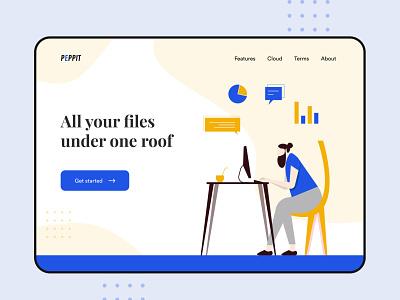 File managment - Web design files file management website design web ui web design website colours typography vector practicing illustration illustraor design