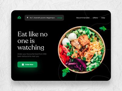 Online food order - Web design web design webdesign desktop delicious foodie web ui website web online order delivery food colours practicing logo flat branding design