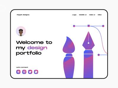 Portfolio - Web design designer portfolio web web  design web design portfolio site portfolio design portfolio page portfolio website portfolio ui minimal typography colours flat branding practicing illustration illustraor vector design