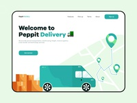 Peppit delivery - Web design courier tracking delivery delivery service delivery truck illustrator typography flat colours branding practicing illustration vector design