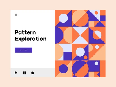 Pattern exploration - Web design abstract minimalism webdesign web website pattern design patterns pattern ui flat typography colours branding practicing illustration illustraor vector design