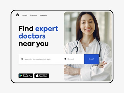 Find doctors - Web design doctors minimal clean website design website webdesign doctor appointment doctor web design web ui logo colours branding practicing design