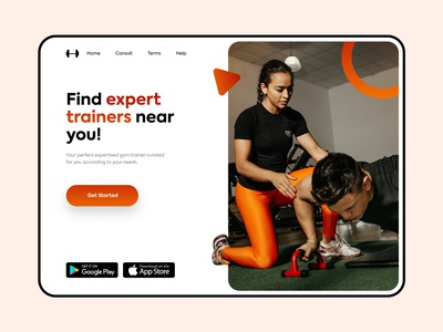 Find gym trainers - Web design web ui website design web design website trainers training trainer gym web flat typography colours branding practicing design