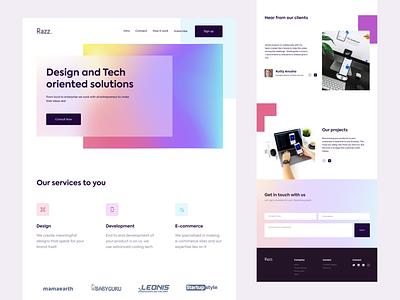 Razz - Web design web deisgn tech services trending popular web design website web ux ui design uidesign ui  ux uiux ui download typography branding practicing vector design