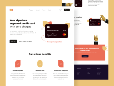 CC - Web design minimal download ui design uiux ui clean ui clean neat cards ui debit card creditcard finance handz 3d trendy typography branding practicing vector design