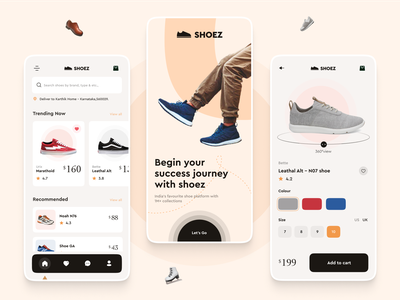 Shoez ecommerce ecom shopping shoe mobile ui download colours clean mob ui mob mobile online shopping ux ui logo typography branding practicing vector design