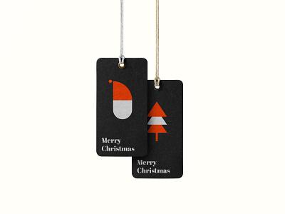Christmas tag design dribbbleweeklywarmup tag santa christmas tree christmas art colours typography flat illustration vector illustraor design