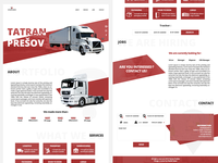 Tatran Prešov - Logistic / Spedition webdesign