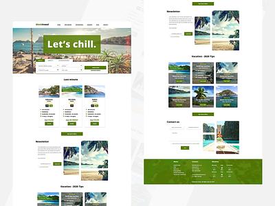 WorldTravel - Travel agency webdesign travelagency traveling green white webdesign design ui simple design