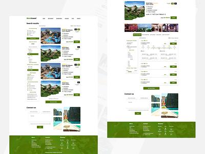WorldTravel - Travel agency webdesign / Subpages travelagency traveling yellow green travel webdesign design ui simple design