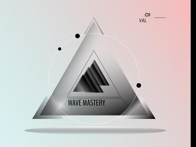 Wavy Triangle Logo Black and White