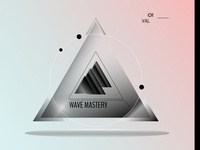 Wavy Triangle Logo Black and White