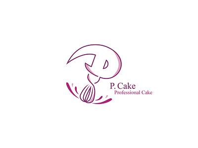 Logo P. Cake | 2017 branding vector design aminebrahimi corporate design advertising brand logodesign graphic logotype logo تبلیغات برند طراحی-لوگو گرافیک لوگوتایپ لوگو نشانه