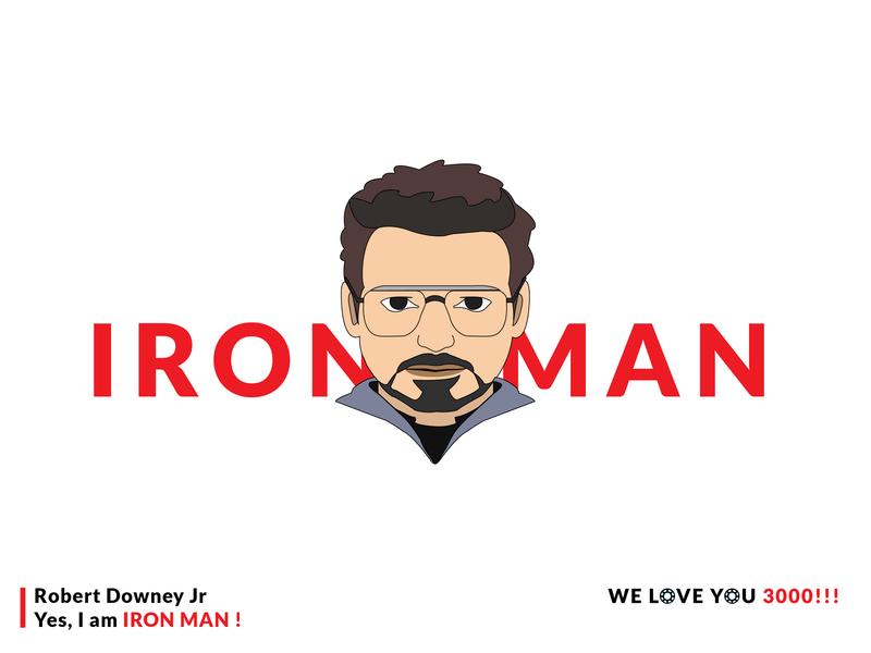 Iron Man i love you 300 love i love you character marvel robert downey jr rdj avengers avengersendgame avenger iron man ironman art typography graphics design illustration illustrator adobe illustrator adobe photoshop