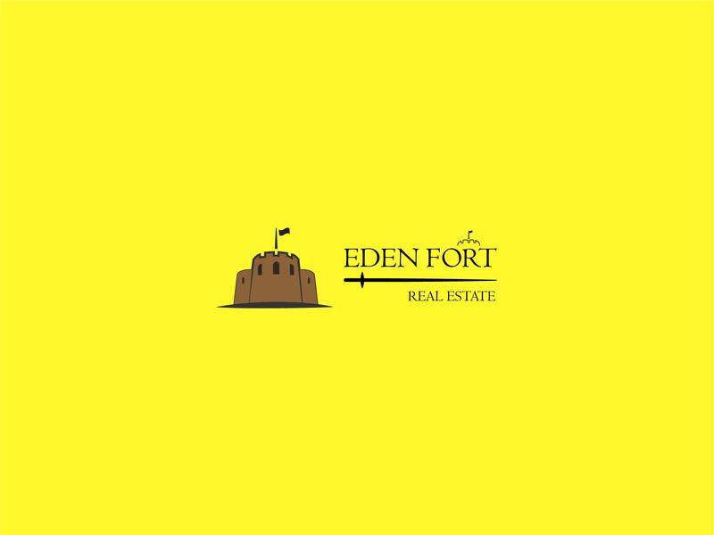 Eden Fort Logo free logo estate logo cool logo logotype design branding typography logo design vector graphics design adobe illustrator logo