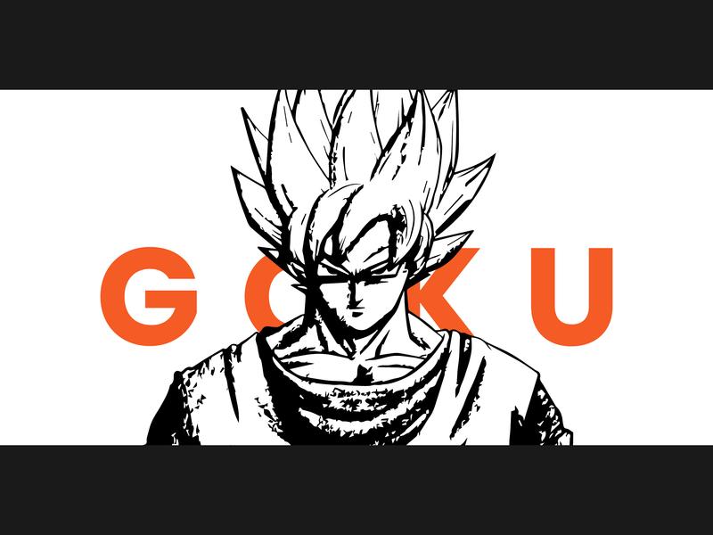 Goku graphic typography graphics design design adobe ilustrator illustration dragan ball comic animated cartoon anime