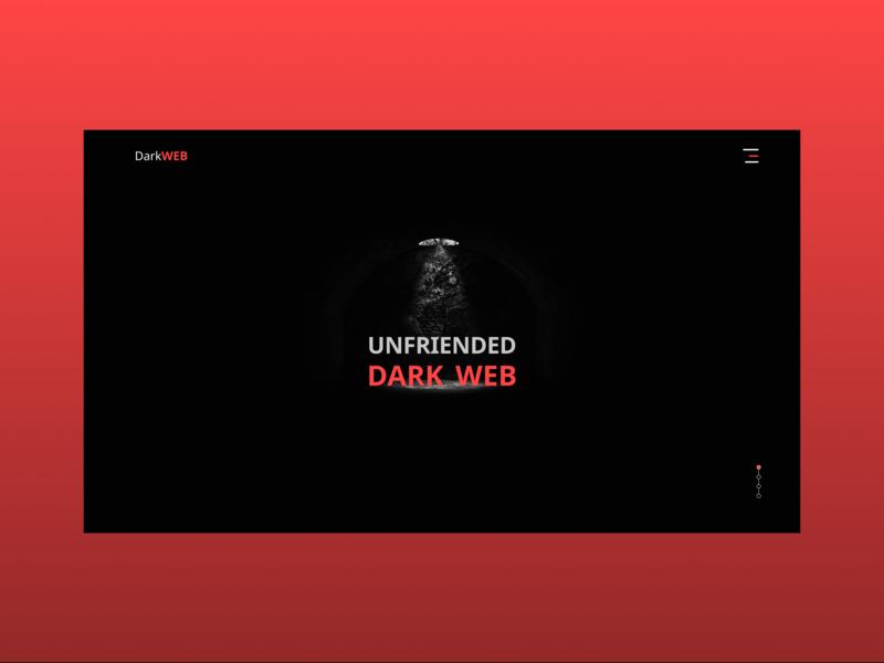 The Dark Web graphics design ui ux web red typography illustration adobe illustrator illustrator dark website concept webdesign website design website adobe ilustrator