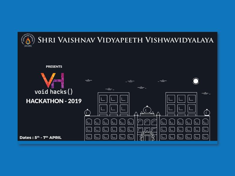 Void Hacks() graphics design graphic typography designer developer indore india college illustraion illustrator poster design poster vector hacking hacker hack hackathon