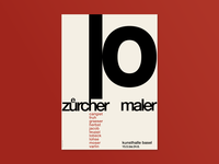 10 Zurcher Maler exhibition Poster
