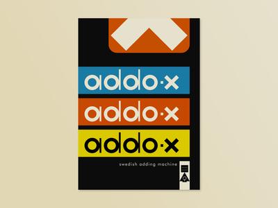 Addo-X Swedish Adding Machine Lithograph