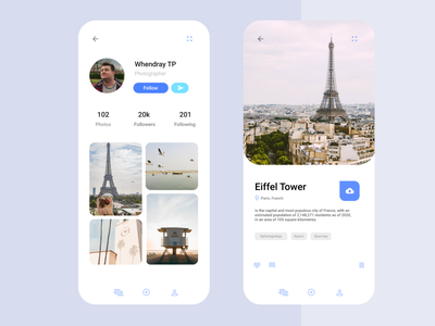 Profile | Social Media application design profile profile design minimalism ios ios app design ux flat clean clean ui ios design app ui application