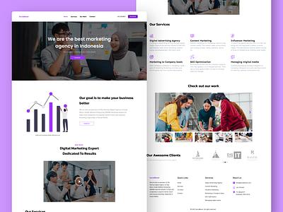 SocialBoost - Marketing Agency Landing Page Design clean ui design web ui agency landing page marketing landing page landing page web design marketing agency